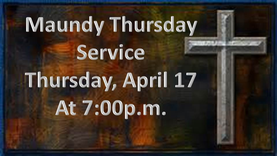 The gallery for --> Maundy Thursday Service